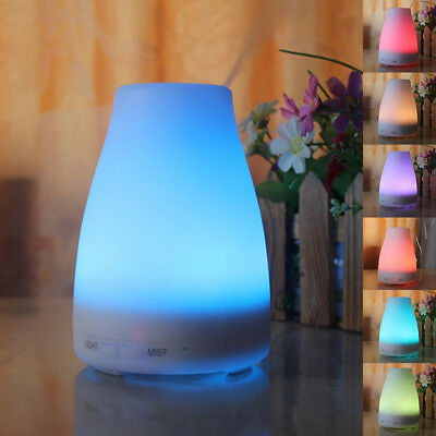 LED Ultrasonic Air Humidifier Essential Oil Aroma Diffuser Aromatherapy Lot HM