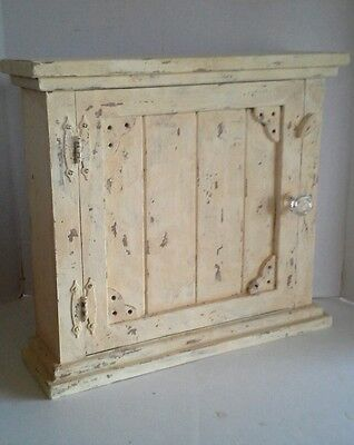 Primitive French Country Farmhouse Aged Wood Shabby Chic Spice/Medicine Cabinet