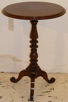 Good Quality Antique Mahogany Round Wine Table