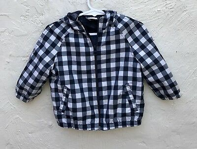 Seed baby Unisex Black and white Plaid checked  jacket  6-12 months 0