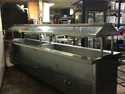 Stainless steel buffet steam table