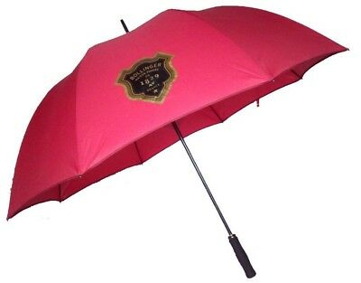 Golf Umbrella with Fibreglass Shaft and Windproof Frame in Red - Bollinger Print