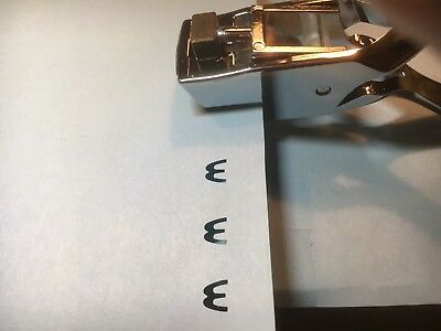 M Shape Shaped Letter Hole Coffee Card Punch Puncher Truckers Truckies