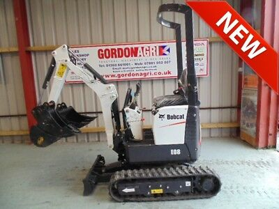 Bobcat E08 Mini Excavator, Brand New, c/w 3 buckets