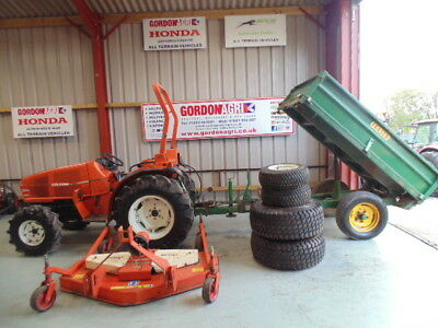 Goldoni 30DT Compact 4WD Tractor, Trailer & Mower Package