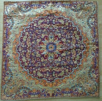 Persian Woven Tapestry Art Termeh Rug Design Tablecloth Wall Hanging Decorative