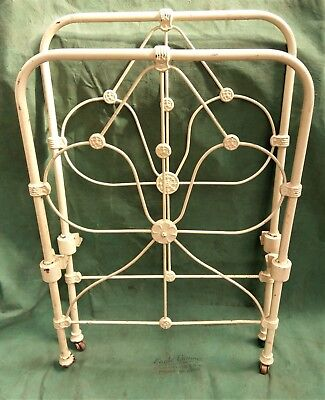 2 x Antique Wrought Iron Bed Heads. Trellis. Garden Decor or Restoration Pieces