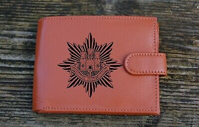 Royal Anglian Regiment Men's Genuine leather wallet complete with   Gift Box