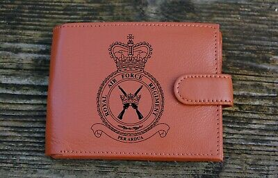 Royal Air Force Regiment RAF Men's Genuine leather wallet complete with Gift Box