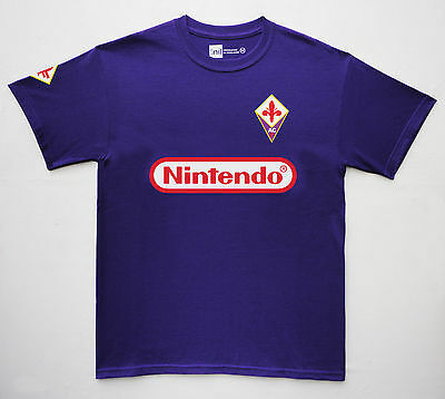 Fiorentina 1997 Nintendo No.9 Batistuta retro T-shirt size Medium