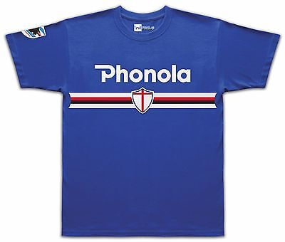 Sampdoria 1985 Phonola No.10 Mancini retro T-shirt size Medium
