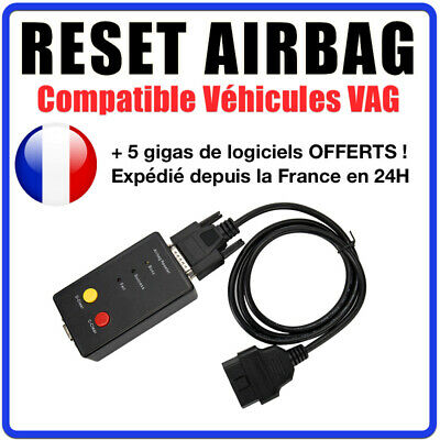 RESET AIRBAG - Réinitialisation AIRBAG Compatible VW AUDI SEAT SKODA - COM