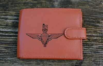 The Parachute Regiment PARA Men's Genuine leather wallet complete with Gift Box