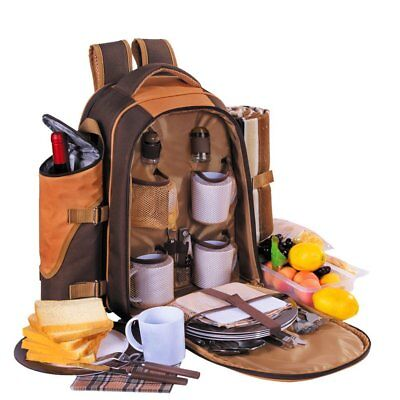 TAWA Picnic Backpack Bag for 4 Person With Cooler Compartment, Detachable