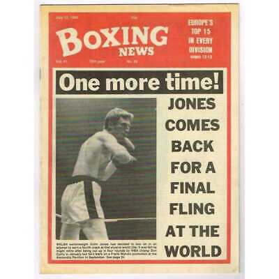 Boxing News Magazine July 12 1985 Mbox3099/C  Vol 41 No.28 One more time!