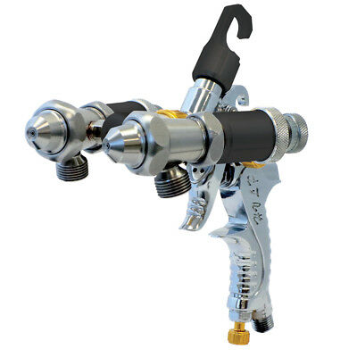 Paasche LMS-2-14 Dual Head Spray Gun For Silvering, Chroming & Dual Fluid Spray