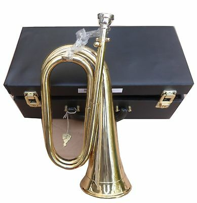 Professional Brass Bugle with Silver Mouthpiece/Army Bb Bugle Brass Free Case