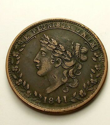 1841 Hard Times Token May Tenth 1837 Specie Payments Suspended