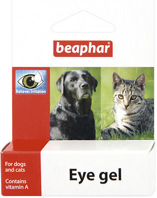Beaphar Eye Gel Soothes Irritation Cleans Eye Cats Dogs Rabbit Hamster