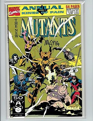 New Mutants Annual #7 Mike Mignola Signed