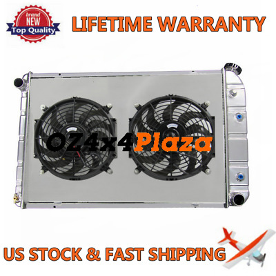 3Row Alloy Radiator & Shroud+Fan Fit Chevy Custom Deluxe Truck & Suburban 73-91