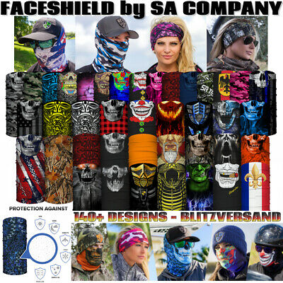 FACE SHIELD SA COMPANY 110+ DESIGNS Faceshield Bandana Schal Halstuch Maske