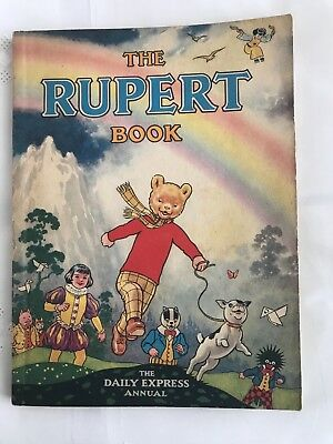 Vintage Original 1948 Rupert Bear Annual - excellent condition UNCLIPPED