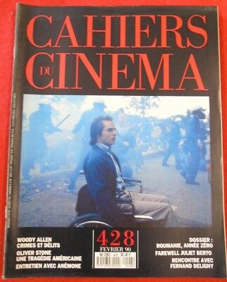 Cahiers du cinéma N° 428 1990 Woody Allen Oliver Stone Anémone Fernand Deligny