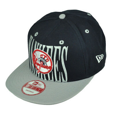 New Era 9Fifty 950 New York Yankees Step Above Snapback Hat Cap Navy Blue  Gray 124f908a9549