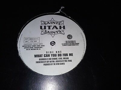 """Utah Saints What Can You Do For Me 12"""" FFRR 1991"""