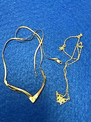 4.8 grams 14k gold scrap jewelry lot tested 14k yellow gold