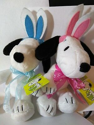 Peanuts Snoopy And Belle Easter Beagles Clip On Plush
