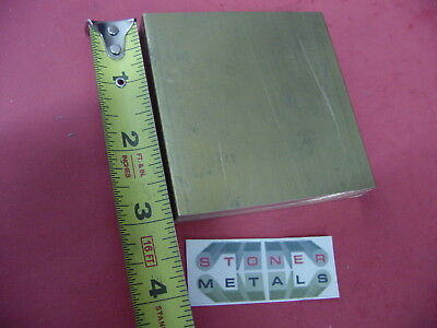 "1/2"" x 3"" C360 BRASS FLAT BAR 3"" long Solid Plate Mill Stock H02 .50"" x 3.0""x 3"""