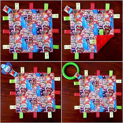 in The Night Garden Mini Size TaGgie Taggy Blanket Toy comforter Dummy clip Hold