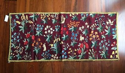 """Beautiful Antique Floral Needlepoint 44""""  x 20"""" - Excellent condition!"""