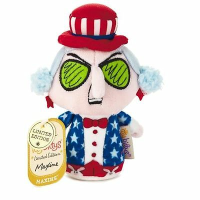 "Hallmark USA Patriotic STARS STRIPES * MAXINE 4"" PLUSH Beanie LD Itty Bitty DOLL"