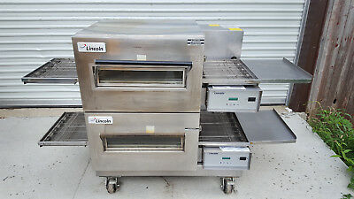 Lincoln Impinger 1132 Double Stack Electric Conveyor Pizza Ovens 208Volt 3Phase