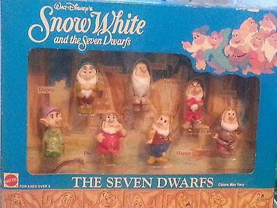 Disney snow white and the seven dwarfs Dwarf Figures in Box Made by Mattel