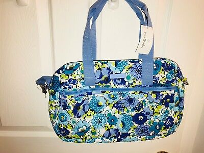 Vera Bradley **NEW STYLE**  Compact Traveler Bag **BLUEBERRY BLOOMS** NWT