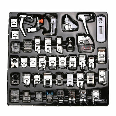 42PCS Domestic Sewing Machine Presser Foot Feet Snap For Brother Singer Set SA