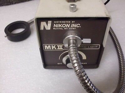 Nikon MKII MK2 Fiber Optic Light Source Illuminator Tested and Working
