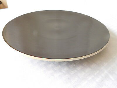 "Sasaki China ""Colorstone"" Chop Platter in Matt Black by Vignelli Desings MINT!"
