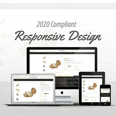 2018 Compliant Mobile Responsive Ebay Auction Listing Template HTML Old Antique