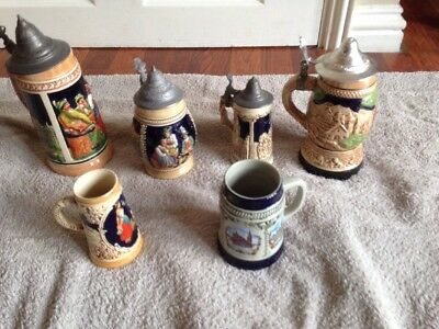 Wind Up Musical Jersey Beer Steins  With Lid Plus More Jugs