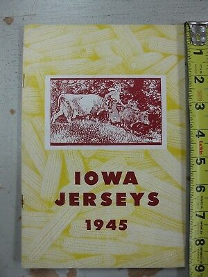 1945 IOWA JERSEYS (CATTLE CLUB) Meeting Production Dairy Cow (SHIPS FREE 2 US!)