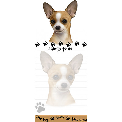 Chihuahua Tan Magnetic Post It Dog Breed Stationery Notepad
