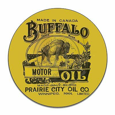 Vintage Design Sign Metal Decor Gas and Oil Sign - Buffalo Prairie City Oil Co