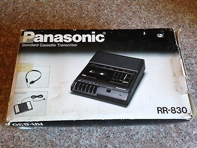 Panasonic RR-830 Cassette Tape Transcriber w/Original Foot Pedal, Headphones,Box