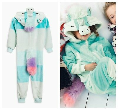 NEXT Pyjamas Pjs Unicorn All In One Bodysuit Girls Fancy Dress Age 16 BNWT Gift
