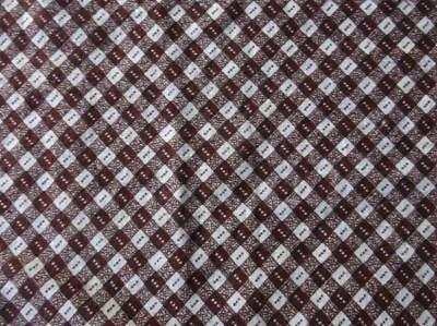 ~Back In Time Textiles~2 pcs of Antique 1880 Chocolate Brown Fabric~